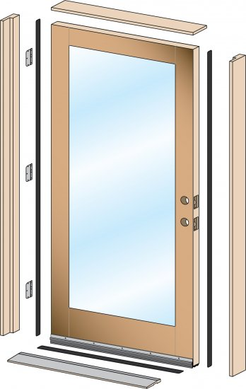 Hung doors five simple steps to installing a prehung door - How to install a prehung exterior door ...